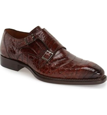 Mezlan Sport Brown Crocodile Shoes Prague Size 9.5 Final Sale