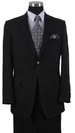 Milano Mens Black Linen Suit Elbow Patch 613L