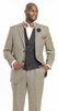 EJ Samuel Mens Black Vested Vintage Fashion Suit M2691