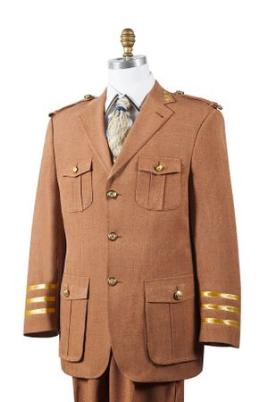 Canto Mens Rust Military Style Pocket Fashion Suit 8391