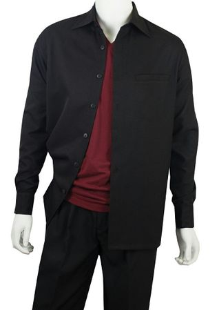 Jazz Mens Black Solid Casual Walking Sets PLTS2