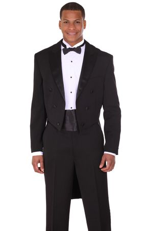 Milano Moda Mens Black Tuxedo With Tails T505 - click to enlarge