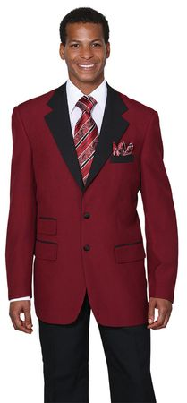 Mens Burgundy Tuxedo Regular Fit Tux Milano 7022 - click to enlarge