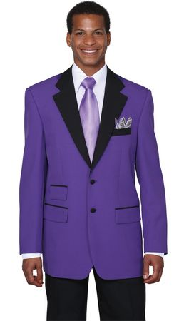 Tuxedo Purple Jacket Mens Colorful Tux Milano 7022 - click to enlarge