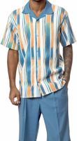 Mens Leisure Outfits by Montique Blue Pattern 1736