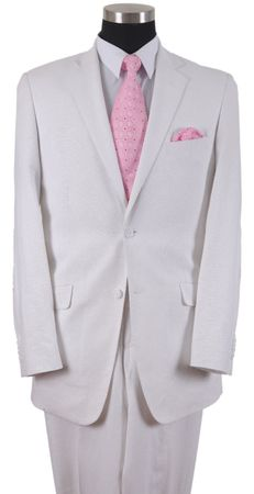 Mens White  Linen Suits for Summer 2 Button Milano 613L