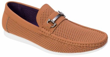 Montique Men's Brandy Metal Bit Perforated Casual Loafers S45