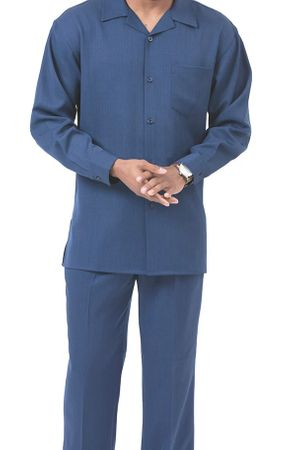 Montique Blue Walking Suit for Men Long Sleeve 1641
