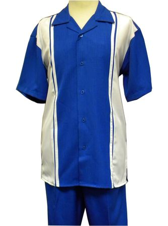 Montique Men's Royal Panel Casual Fashion Short Set Outfits 790
