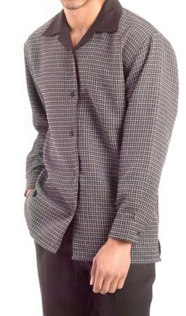 Montique Mens Slate Black Tweed Walking Suit 1139