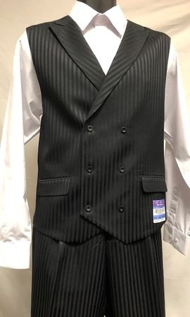 Blue Martini Black Stripe Vest Outfit Mat Vested 5466