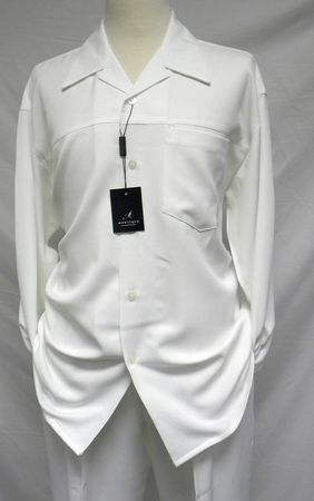 Montique Mens Cream Heather Long Sleeve Walking Suits 1129 - click to enlarge