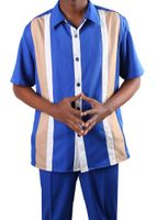 Jazz Short Sleeve 2 Piece Casual Outfits Royal PL3C-1 htm