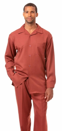 Montique All Rust Walking Suit for Men Long Sleeve 1641 - click to enlarge