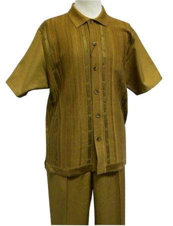 Silversilk Clothing Mens Chestnut Knit Front Casual Outfit 9346 Size L/36