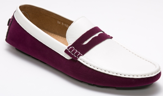 Montique Purple and White Casual Driving Shoes S-06 IS c9fc2f6cdef