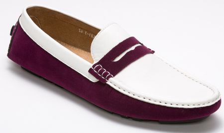 Montique Purple and White Casual Driving Shoes S-06 IS