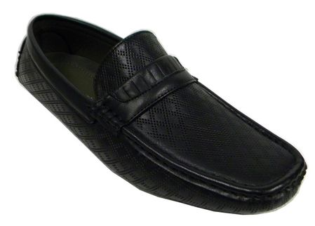 AC Mens Casual Fashion Driver Moc Shoes Black 6650 - click to enlarge