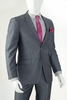 Vittorio St. Angelo Charcoal Stripe Slim Fit Suit 2 Button S2A6W