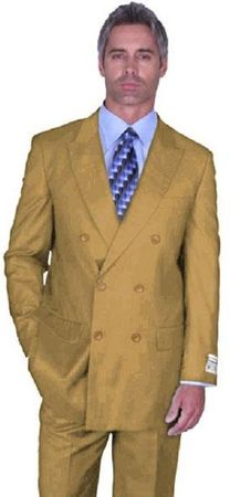 Double Breasted Men's Wool Suit Camel Alberto Nardoni DB-1