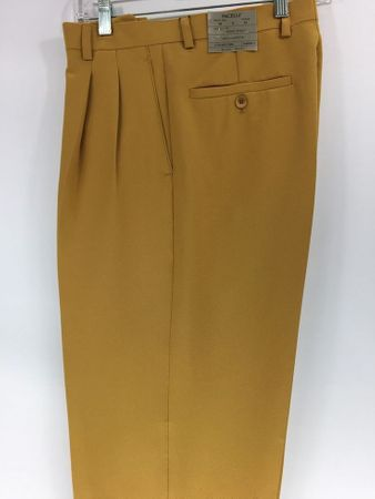 Pacelli Mustard Pleated Baggy Fit Dress Pants 810027 - click to enlarge