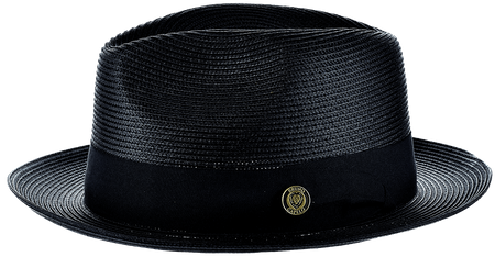 Panama Hat Black Men's Summer Fedora FN821 Size S,M,L