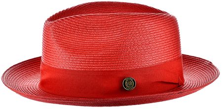 Panama Hat Red Men's Summer Fedora FN823