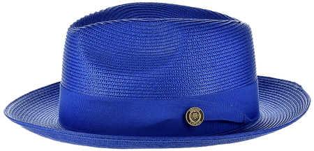 Panama Hat Royal Blue Men's Summer Fedora FN822