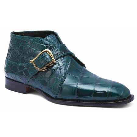 Mauri Green Alligator Ankle Boots Esquire 4955