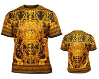 Prestige Black Gold Silky Crew Neck Shirt Short Sleeve DPP350