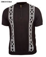 Prestige Black Omega Knit Short Sleeve Shirt CMK915