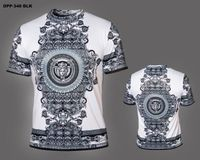 Prestige Black White Medusa Silky Short Sleeve Shirt DPP340