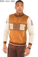 Prestige Men's Rust Versace Inspired Fashion Sweater KTN-842