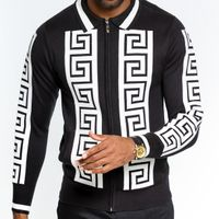 Prestige Mens Black Apliq Fashion Sweater KTN-781