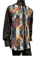 Prestige Mens Black Multi Color Front Rayon Walking Suit Set PM561