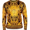 Prestige Mens Black Silky Medusa Long Sleeve Shirt DPP-950
