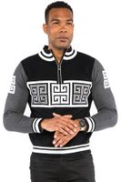 Prestige Mens Black Versace Style Fashion Sweater KTN-842