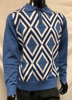 Prestige Mens Blue Argyle Fashion Sweater KTN-761