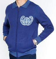 Prestige Mens Blue Embroidered Fashion Sweater KTN-755