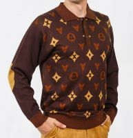 Prestige Mens Brown Designer Pattern Sweater KTN-670