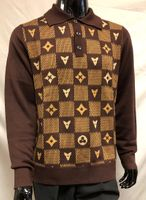 Prestige Mens Brown Louis Style Fashion Sweater KTN-762