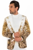 Prestige Mens Cream Angel Art Velvet Blazer Jacket PBZ797