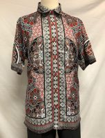 Prestige Trendy Button Down Shirt Mens Red Digital Print PR-511