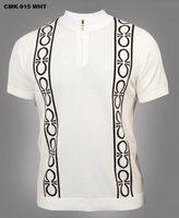 Prestige White Omega Knit Short Sleeve Shirt CMK915