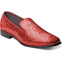 Prom Shoes Red Glitter Slip On Stacy Adams 25277-600