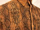 Pronti Walking Suit Rust Corduroy Outfit Snake Print SP4355