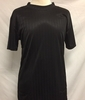 Pronti Mens Black Mock Neck Shirt Short Sleeve Stripe 1239