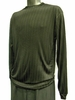 Pronti Mens Black Shadow Stripe Long Sleeve Mock Neck Shirt 1239