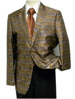 Pronti Mens Bronze Multi Paisley Fancy Entertainer Blazer