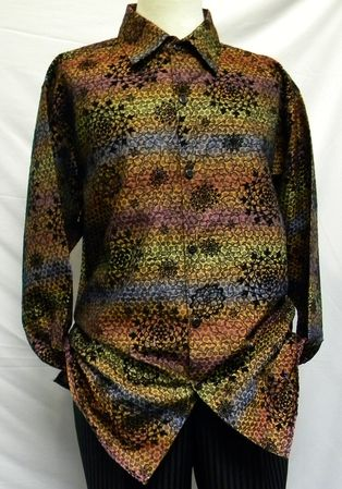 Pronti Mens Gold Multi Color Pattern Long Sleeve Casual Shirt 6201